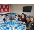 Mrs Daniels joining the VIP Afternoon Tea Party
