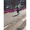 Mr Pursehouse about to cross the line