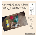 Our focus sound today was the 'l' phoneme. Can you find things around your house beginning