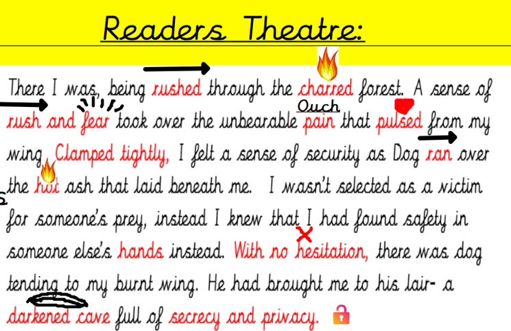 Why not have a go at the Readers Theatre activity at home?