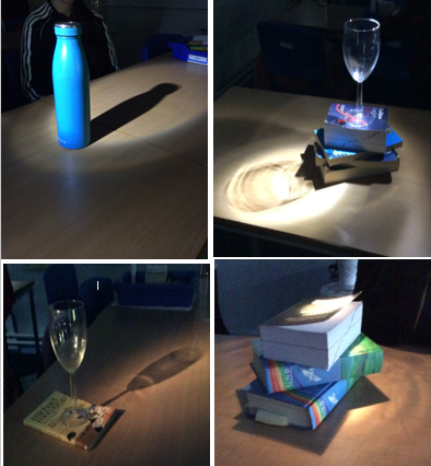 Art- We captured still life objects in the classroom that would cast a shadow.