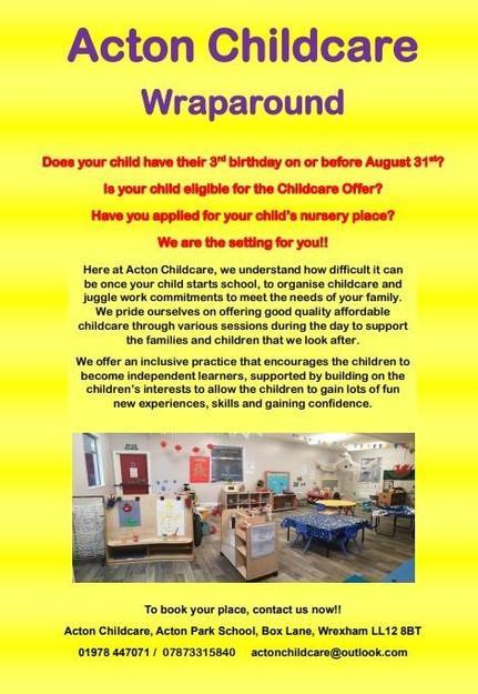 Acton Childcare Wraparound Poster