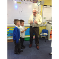 Visit from Dr Rawlings