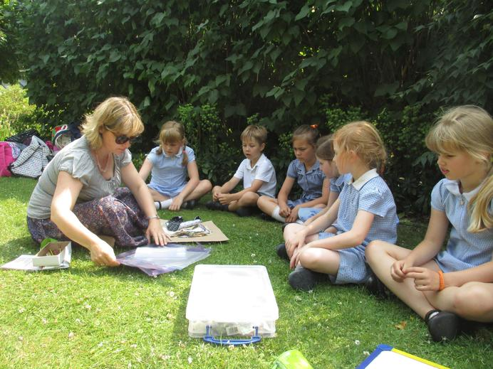 Making bookmarks in the sunshine