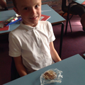 Making chocolate 'sedimentary' rocks