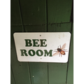Visiting the bee room