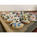 The finished product (melting snowman biscuits)