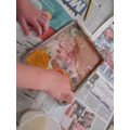 Making our own paints using spices