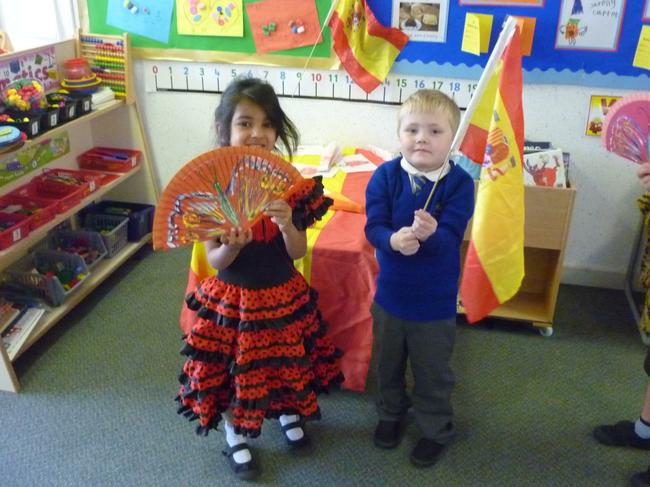 We danced Flamenco style.