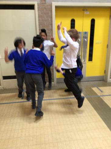 Fantastic teamwork creating Bhangra inspired dance routines!