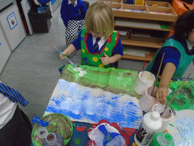 We painted amazing pictures of the Yorkshire Dales