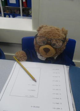 Bobby showing resilience with maths.