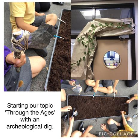A great way to start our topic with an archeological dig.