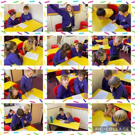Drama-Enchantress of the Sands. We acted out a scene from our new story.