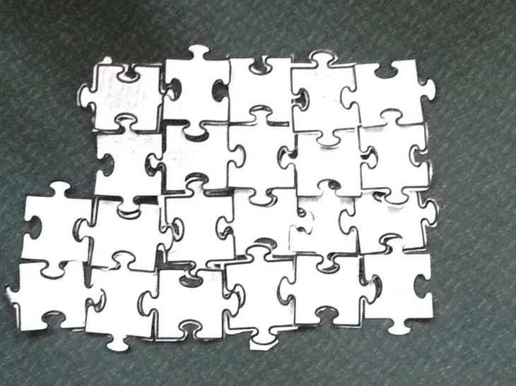 Our completed jigsaw...a perfect fit!