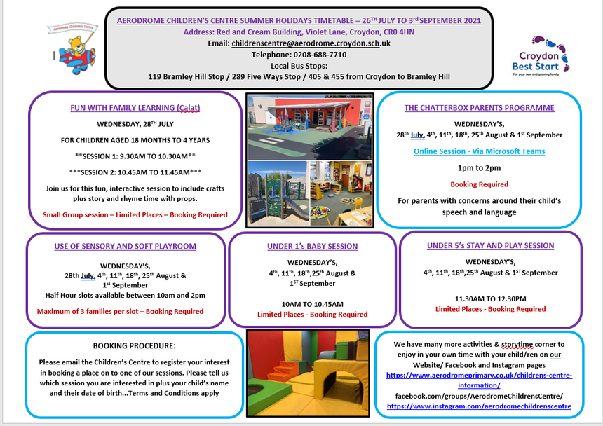 Please email in to the centre to register your interest in booking a session.