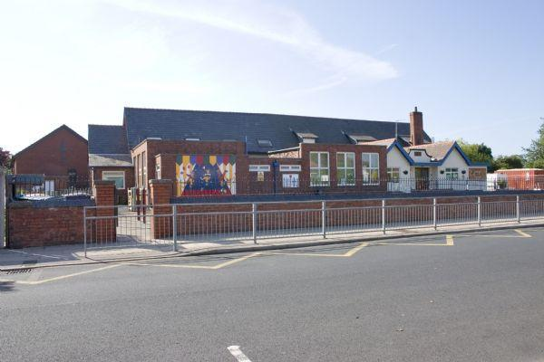 A view of our school from Sandbrook Road