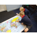 We placed the civilisations on the map.