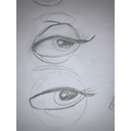 Sketching a female eye.