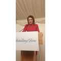 Our host for the evening Julia Hartley- Brewer