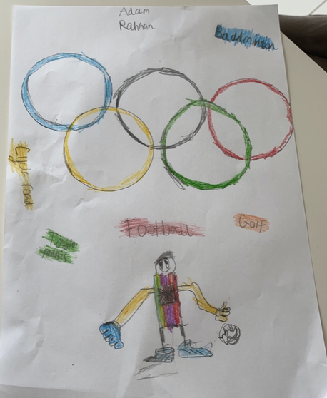 An Olympic sports poster from Adam