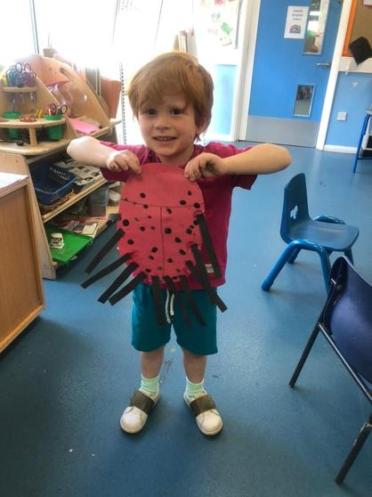 Rowan made a spider ladybird that eats people