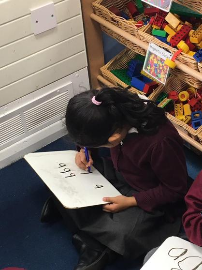 Practising writing our phonics!