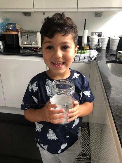 Kerim is growing his very own Beanstalk