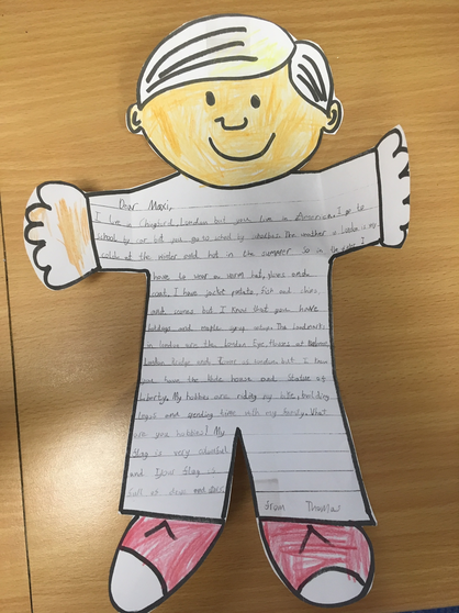 Thomas' Flat Stanley letter to America