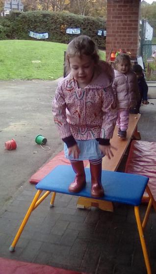 I can balance and jump!