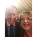 Ms Scott meeting the legend Sir Geoff Hurst