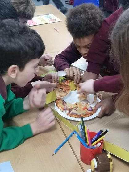 Year 5 loved the healthy pizza options!
