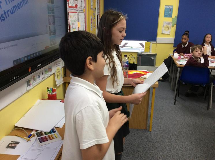 Roald Dahl inspired us to write our own rhyming couplet poems. We had to perform them too!