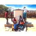 Children using the Elephant Pump