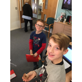 George and Noah enjoying the festivities