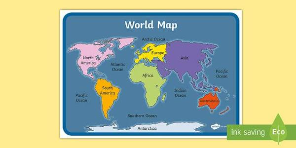 Our Autumn 1 Topic looks at Continents and Oceans and involves lots of map work!