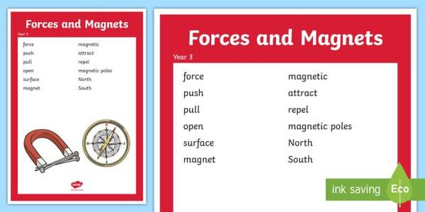 Our Science topic for Autumn 1 is Forces and Magnets.