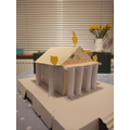 A Greek temple.