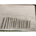 Drawing of an Ancient Greek temple