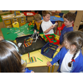 Busy building The Three Little Pigs' houses