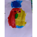 Charlie's self-portrait inspired by Picasso.