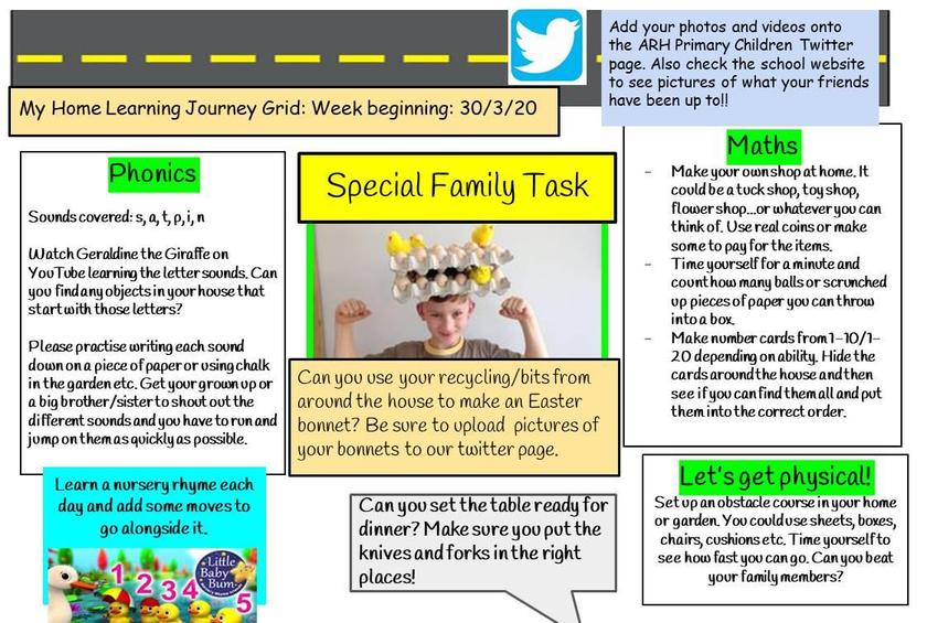 Home Learning Week 2