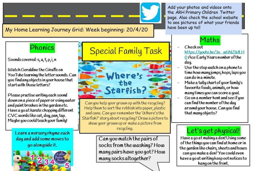 Home Learning Week 3