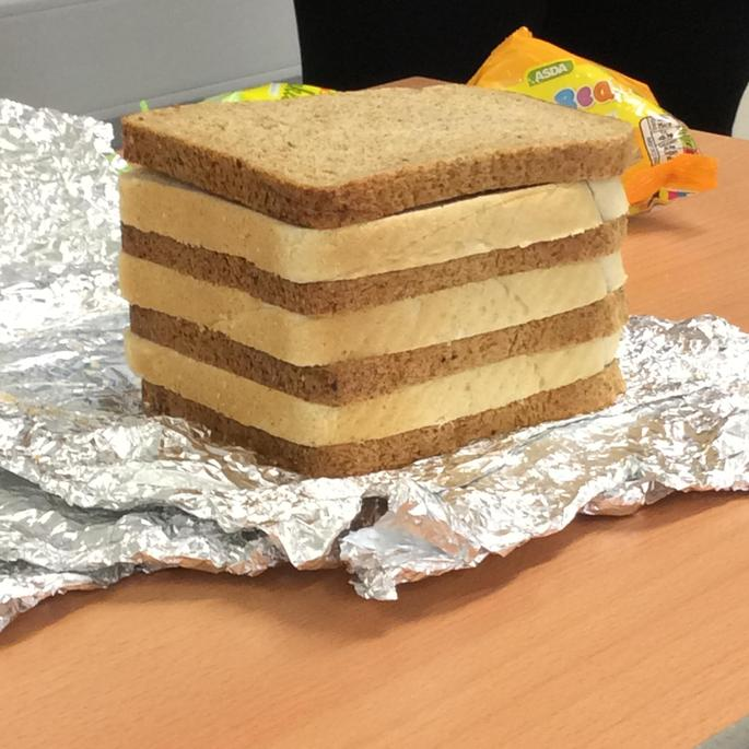 Bread for sedimentary layers of rock.