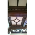 Wood paneled ceilings too