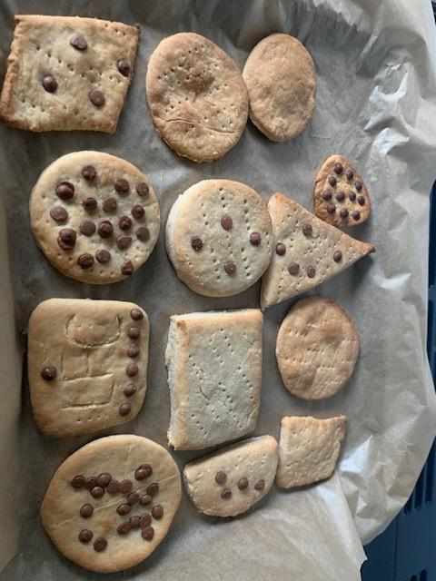 Rocco and Milo made tasty-looking pirate biscuits.