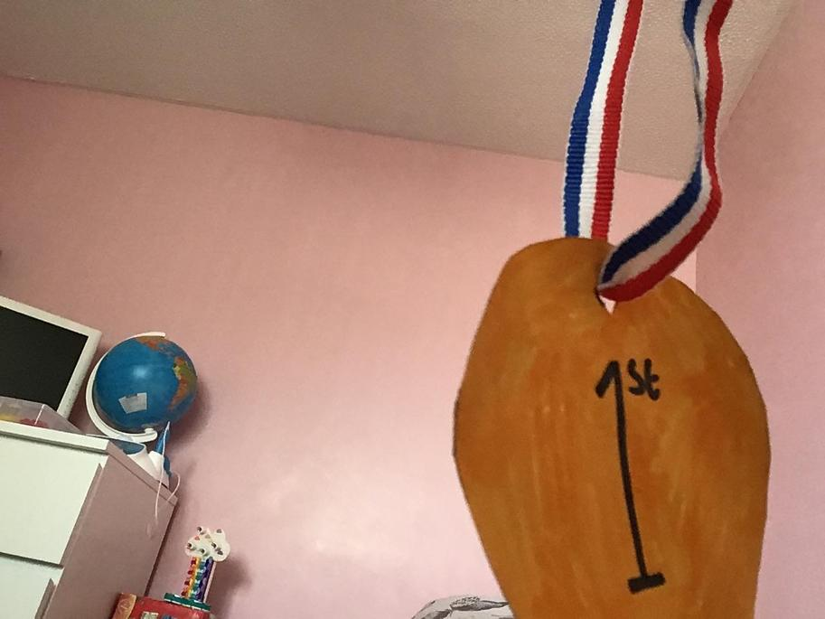 Erin has made a great Olympic gold medal.