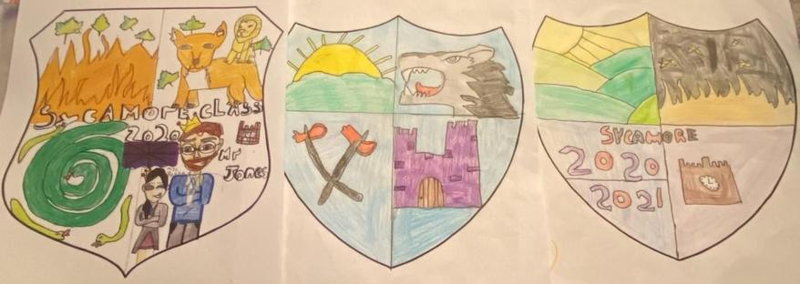 These were the top 3 Coat of Arms designs judged by Headteacher Mrs Roberts.