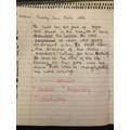 Ellen's cliff-hanger writing