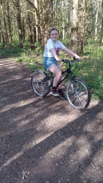 Lexi on her bike!